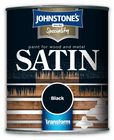 Johnstone's Speciality Paint for Wood and Metal Black Satin 750ml